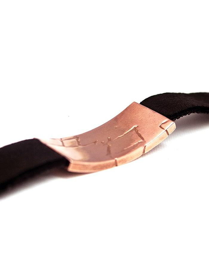 Stingray Leather Wrist Band in Rose Gold