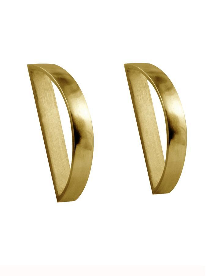 GOLD ARC EARRINGS