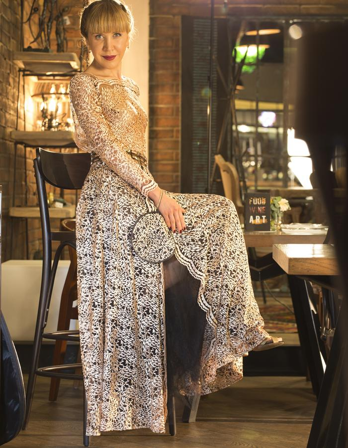 Elegant custom-made dress