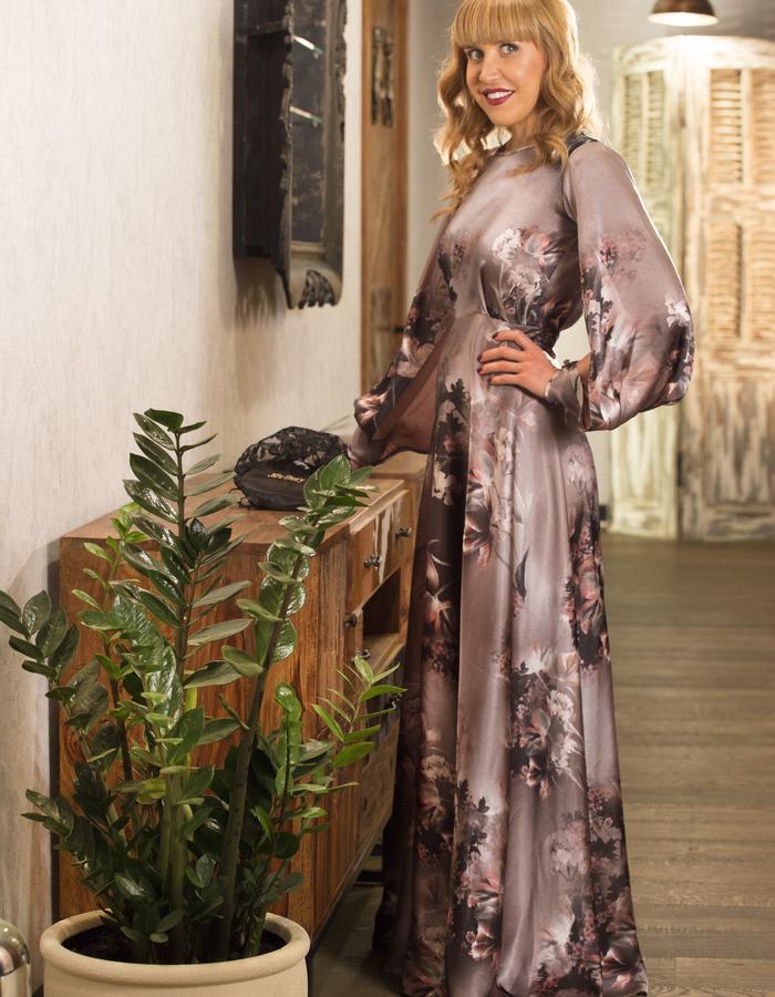 Pure silk elegant dress