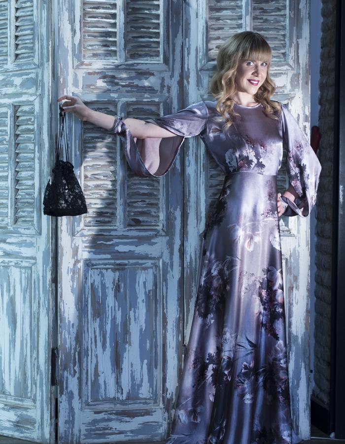 High fashion evening dress- hand made