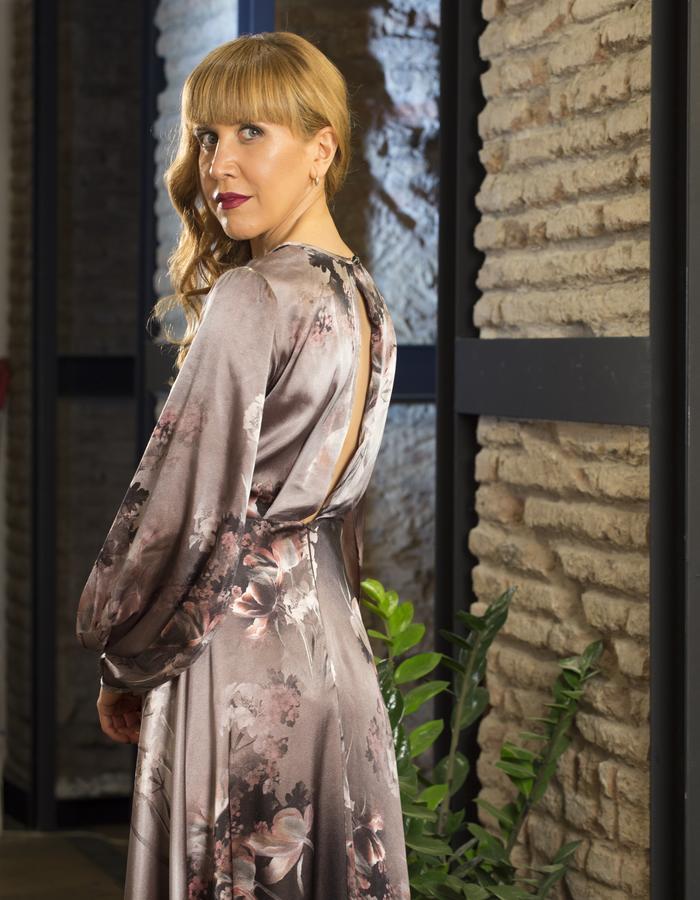 Customized silk dress