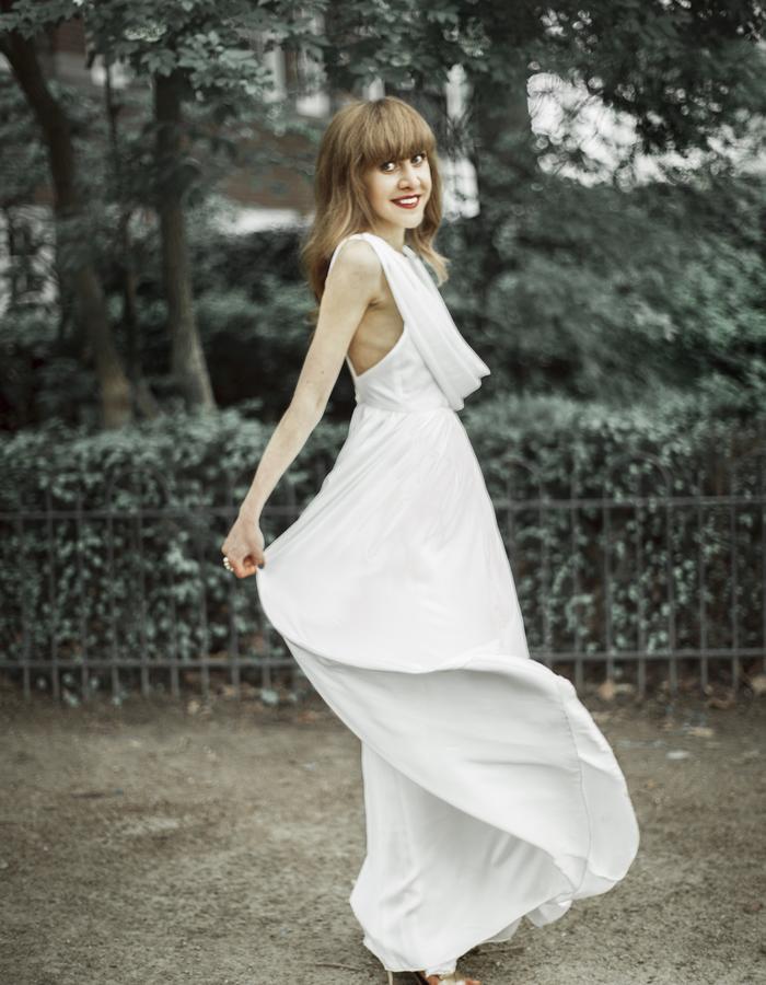 Pure silk luxury dress