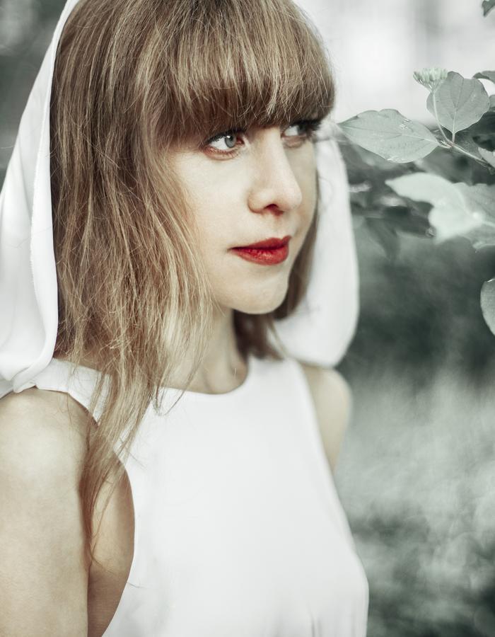 white elegant, flirting dress