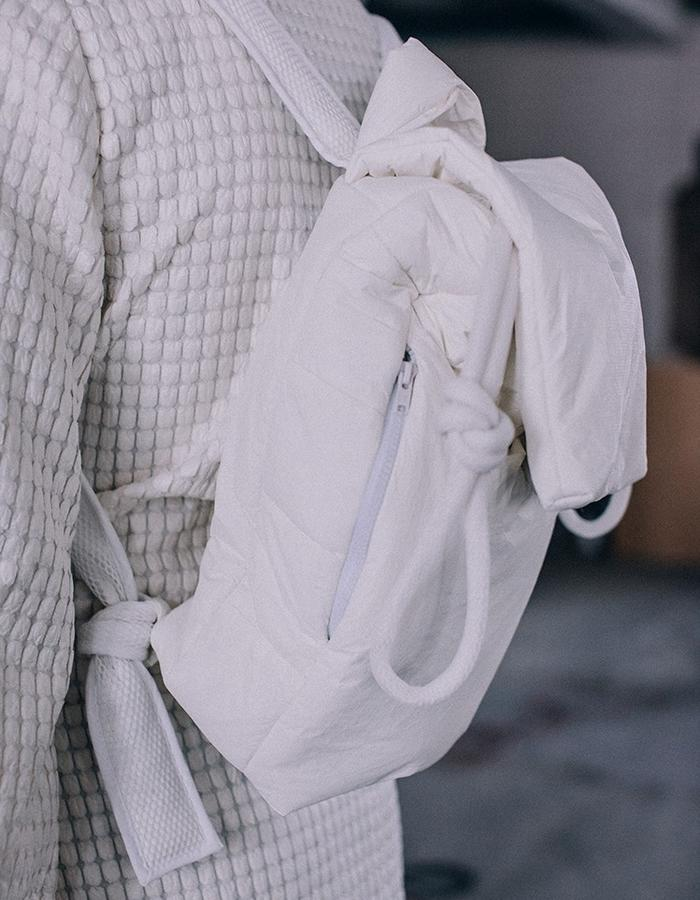 pudded backpack made from innovative breathable material