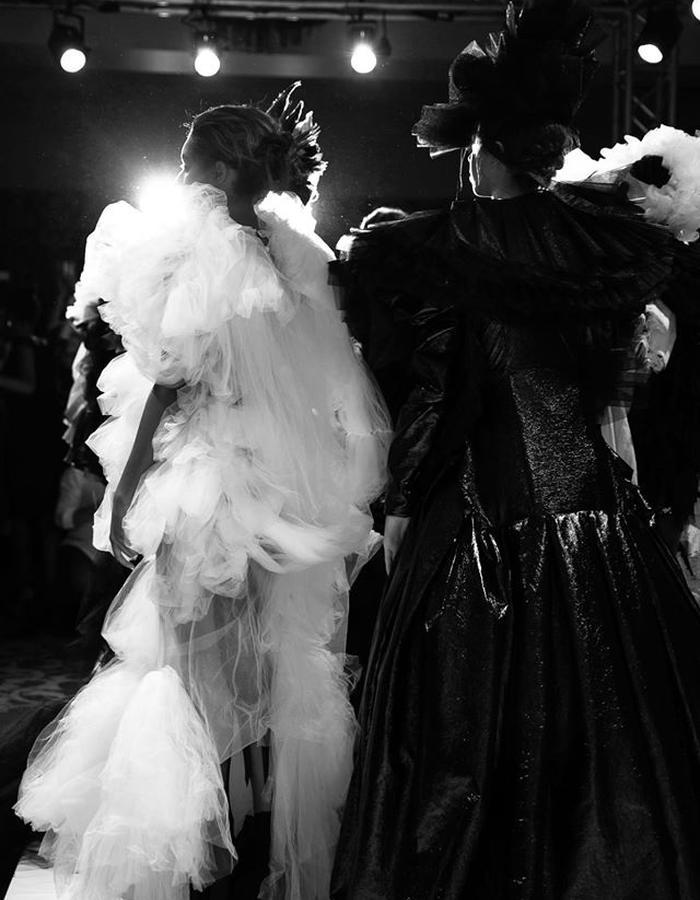 BTS @ LFW, Hellavagirl Couture Show; shot by Zuzia Zawada