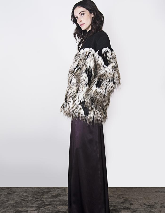 Ada Quilted Faux Fur Coat