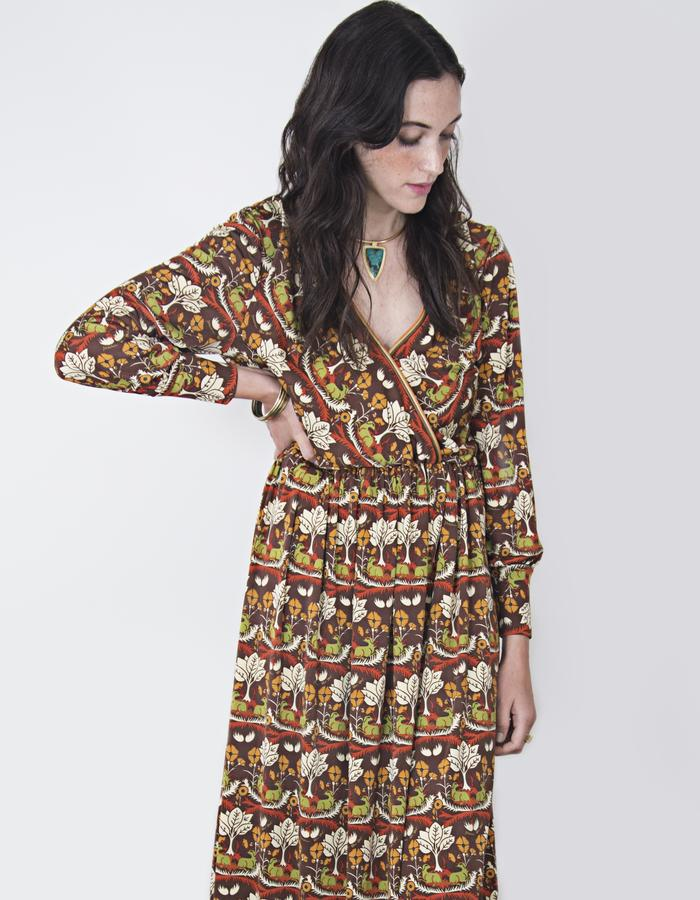 Araceli Jersey Silk Print Dress