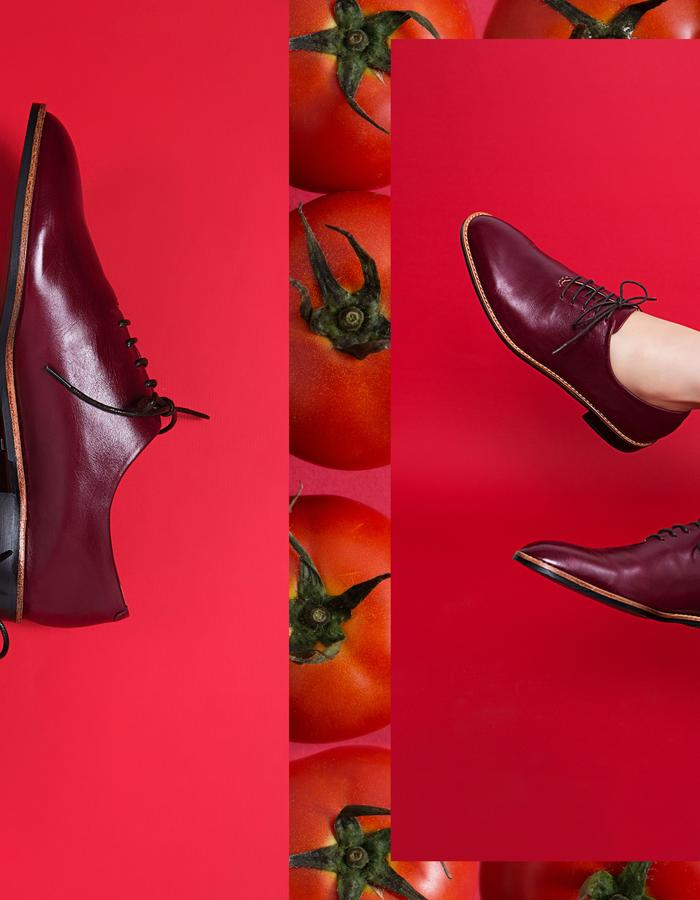 NOUR classic, leather oxford, burgundy