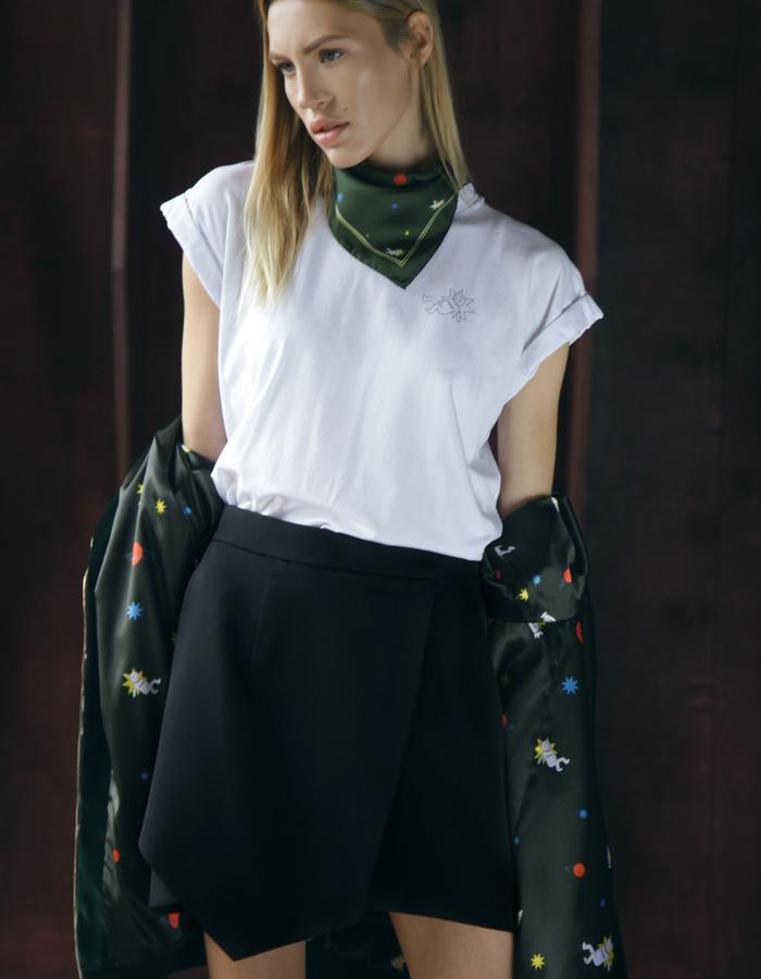 MIRO cotton t-shirt, skirt and scarf