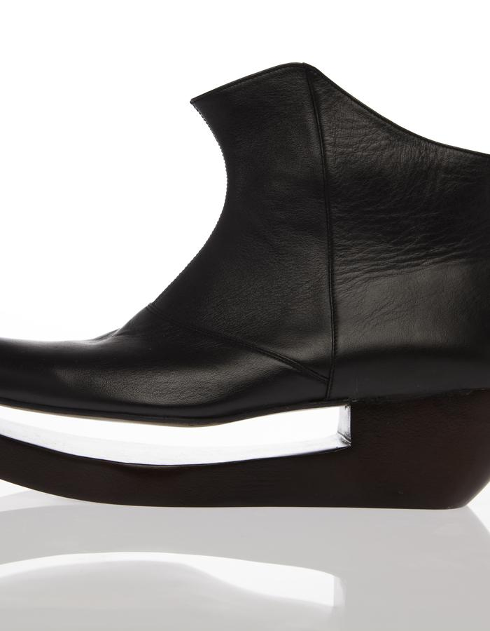ANKLE BOOT WITH WOODEN HEEL,contemporary, fashion