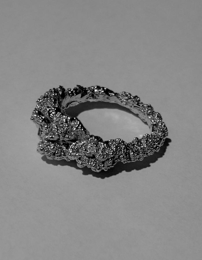 'Mare Nostrum' Black Rhodium and Sterling Silver Ring - Small