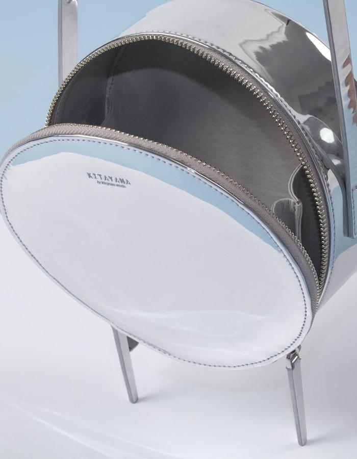 Naoshima | Round Bag | Mirroring Silver