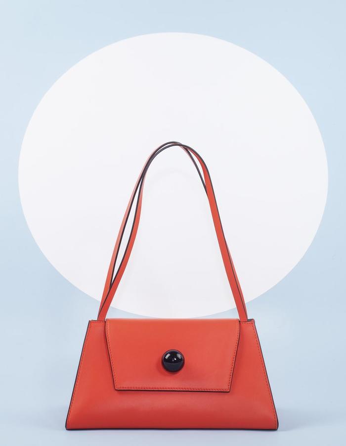 Naoshima | Triangle Bag | Orange Red