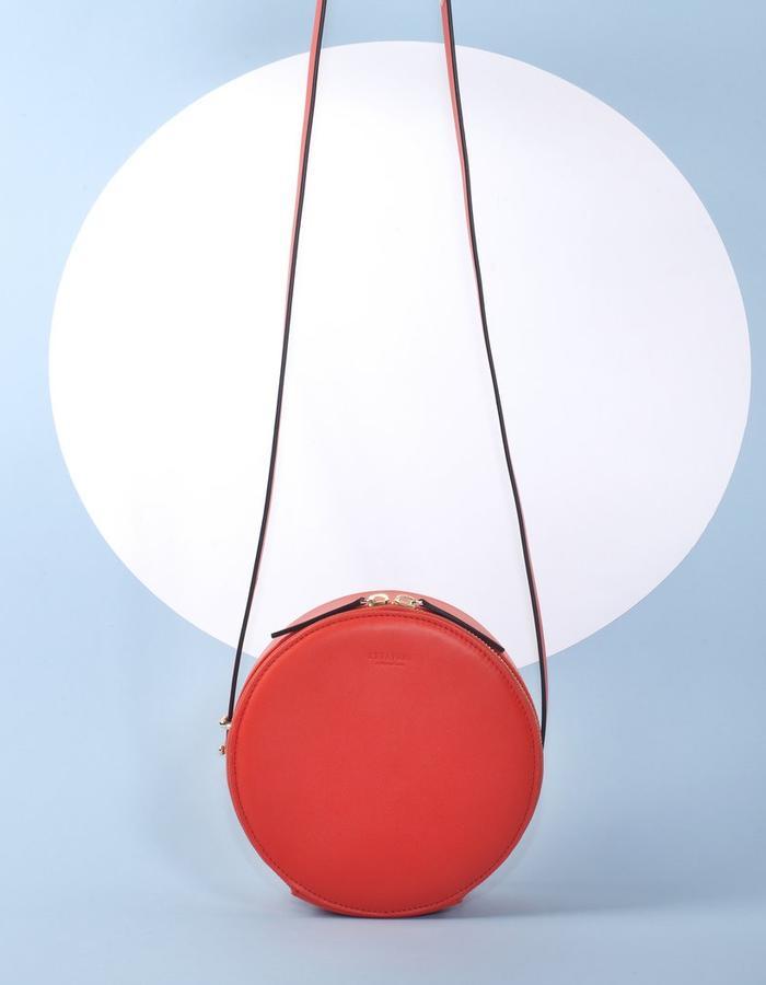 Naoshima | Round Bag | Orange Red