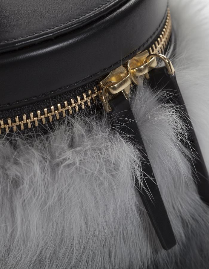 Naoshima | Bucket Bag | Rabbit Fur