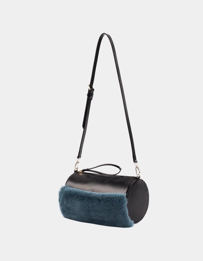 Naoshima | Crossbody Bag | Rabbit Fur | Black
