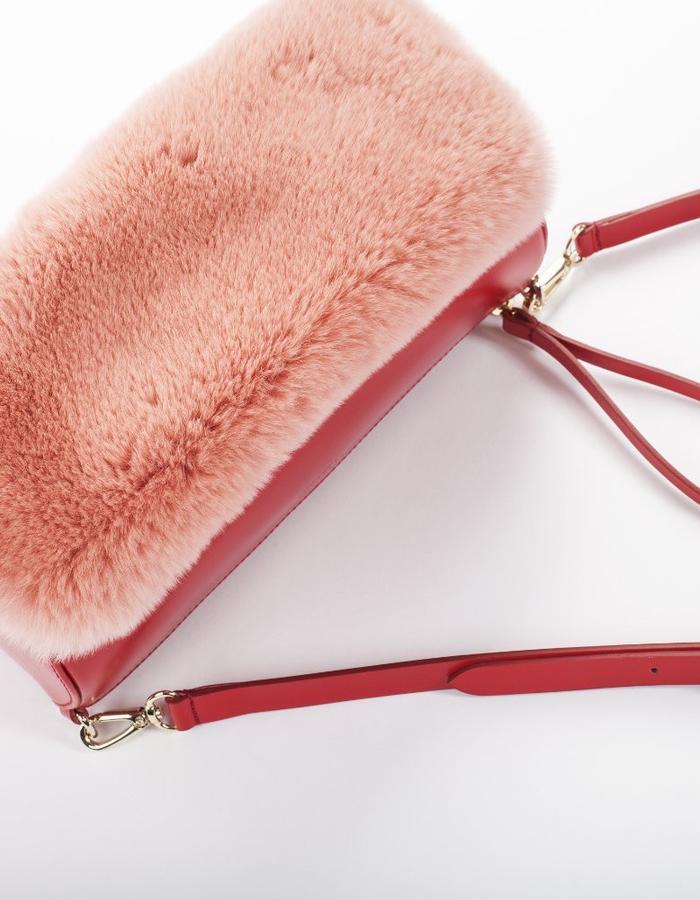 Naoshima | Crossbody Bag | Rabbit Fur | Red