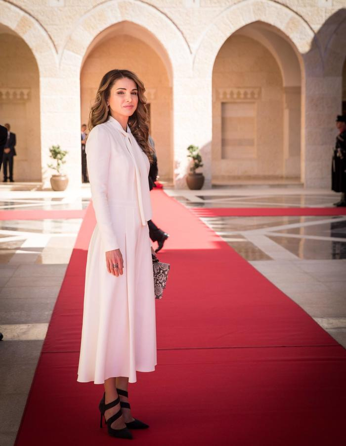 HM Queen Rania holding BLAC Edition 6 Bag in Python