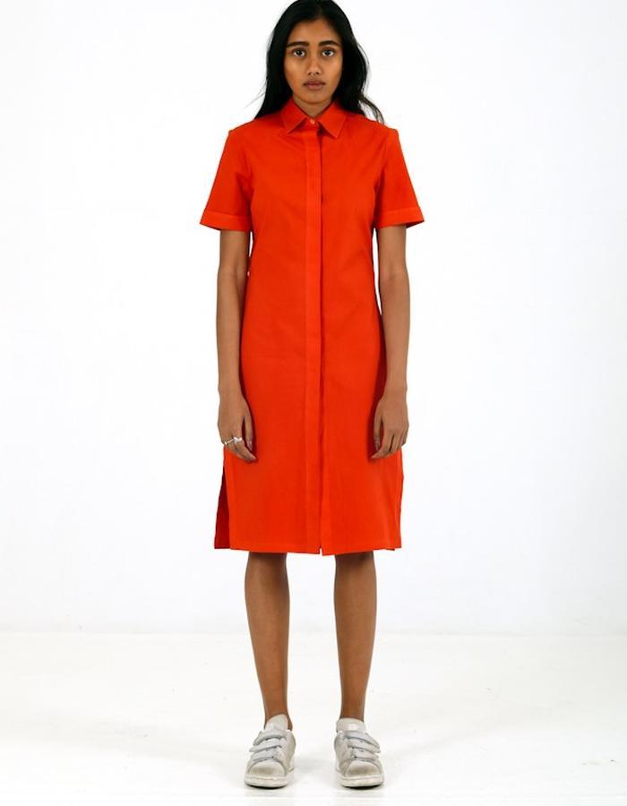 Boxy Button Up Dress