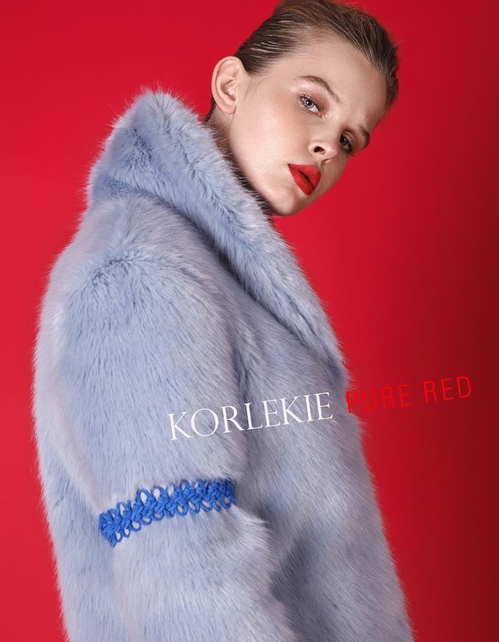 Paradise Blue Fur Coat