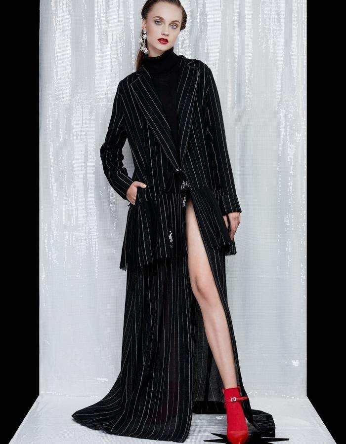 Long star trench coat