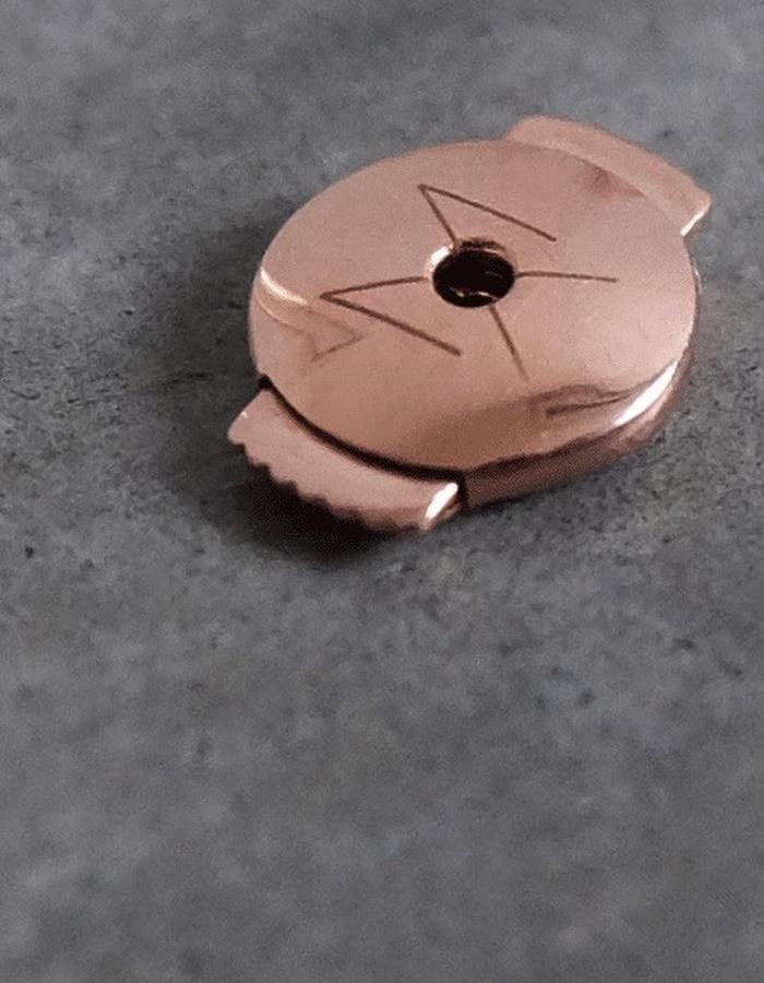 Earrings Closures in 14K Rose Gold.