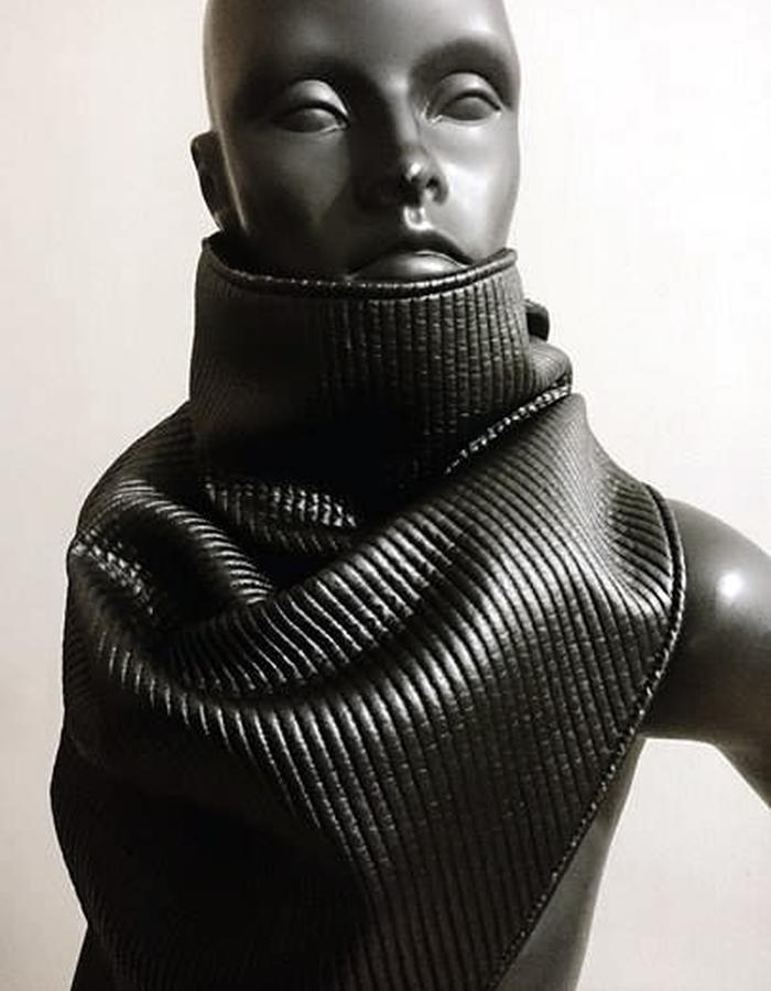 PU Leather Futuristic Scarf