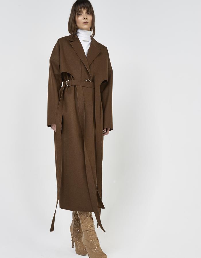 Long deconstructed coat by Boyarovskaya made in France