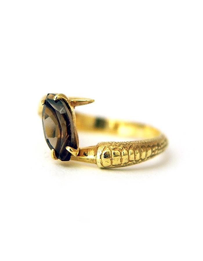 Talon Ring with Smoky Quartz