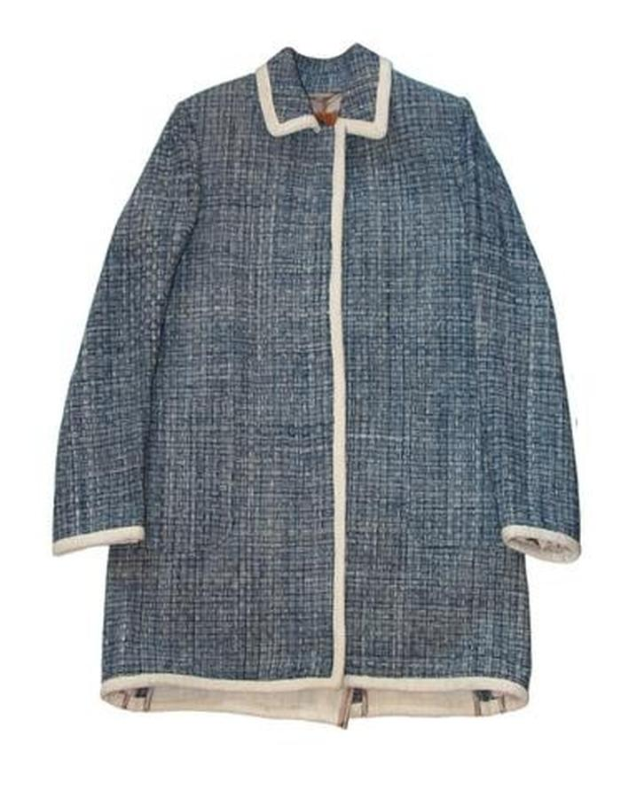 HAND WOVEN TAOILORED COAT WITH DETACHABLE VEST