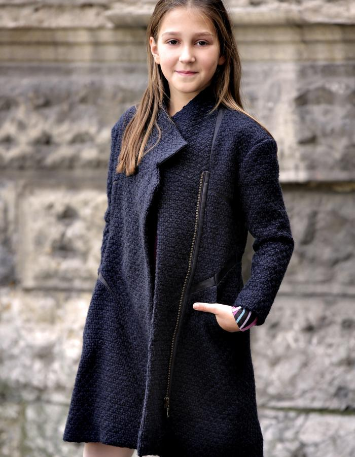 wool coat for girls, age 11.