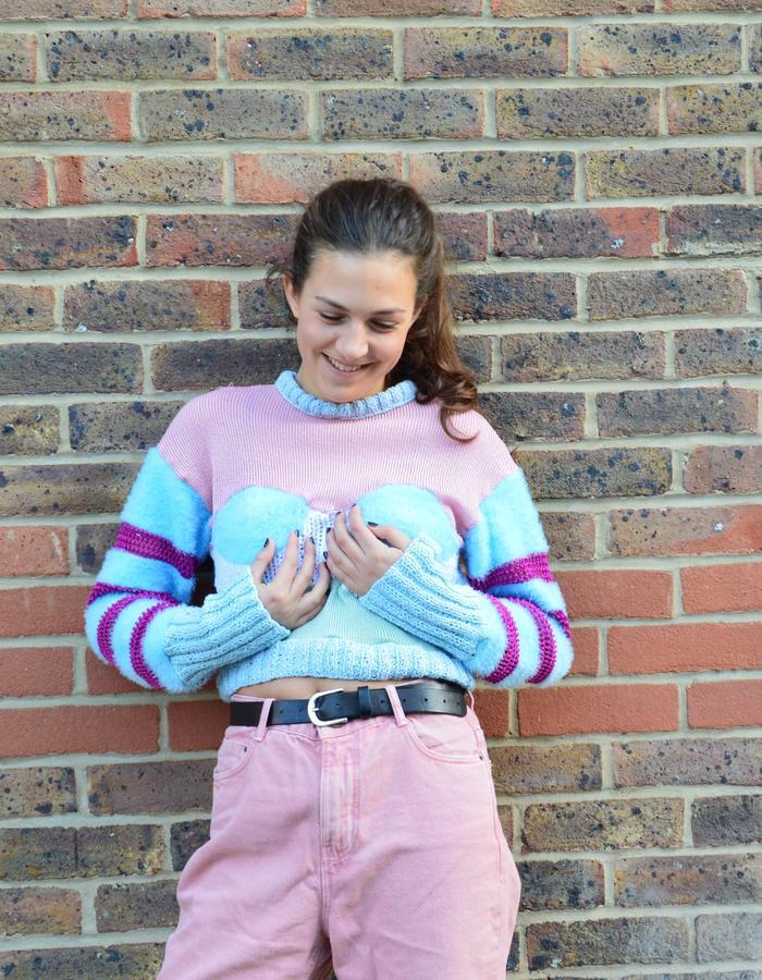 Craft Knitwear, fluffy boob sweater