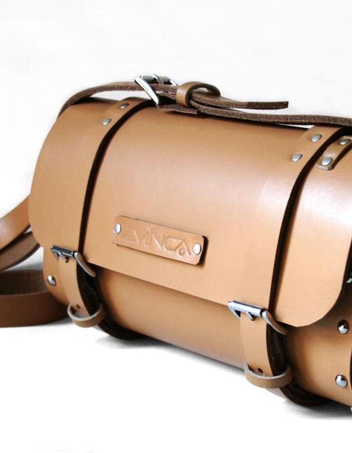 oval wood leather bag zvinca