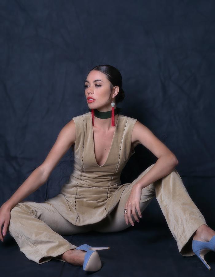 Horizon Line Velvet Pants & Overjoyed Velvet Dress