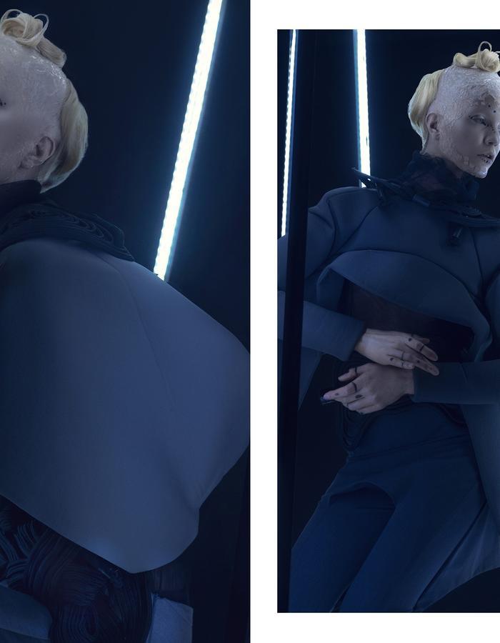 FASHION COLLECTION ENSONEO II CAMPAIGN  //// THE PAST AND THE FUTURE COME TOGETHER ////  #PHOTO Audrey Štecinjo  concept design for masks and 3d modeling by Milan Nikolic 3d print by Polyhedra #makeup Aleksandra Sanja Orlandic Sretkovic #hair Bojan Nastasic  #model Marijana Stracenski #style #artdirection NEO design #asistent Ivana Kućanski Vorguca #setdesign #lightinstalation Luka Trišić  #setproduction Aleksandar Krnić / Praksa // Makerspace Belgrade