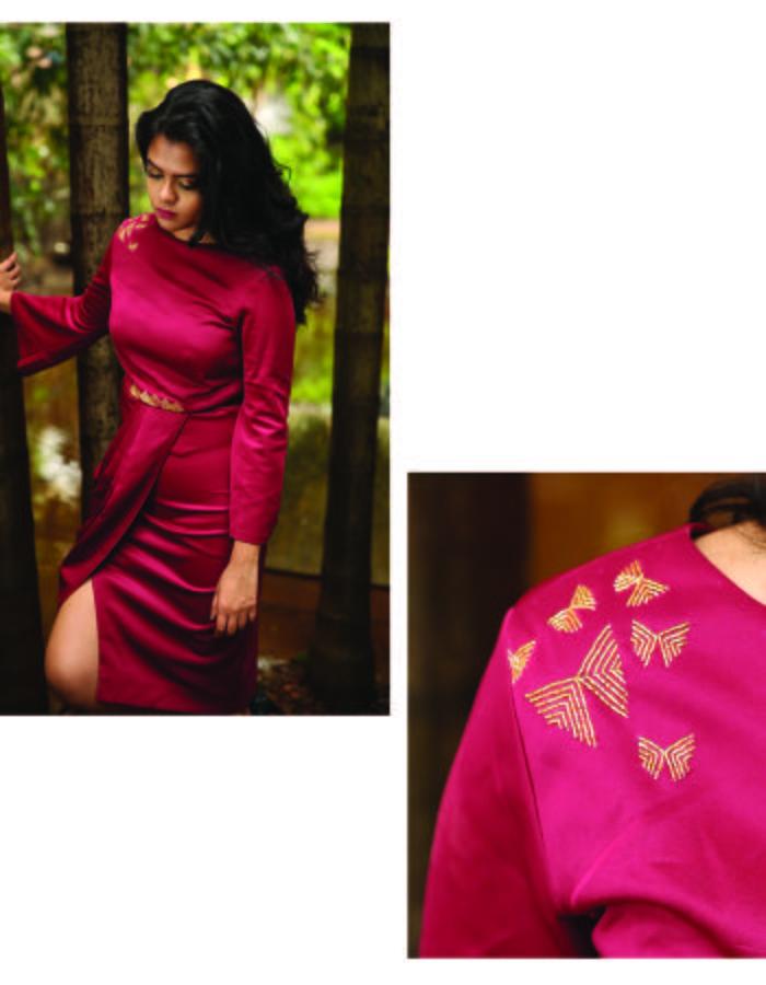 Butterfly drape dress