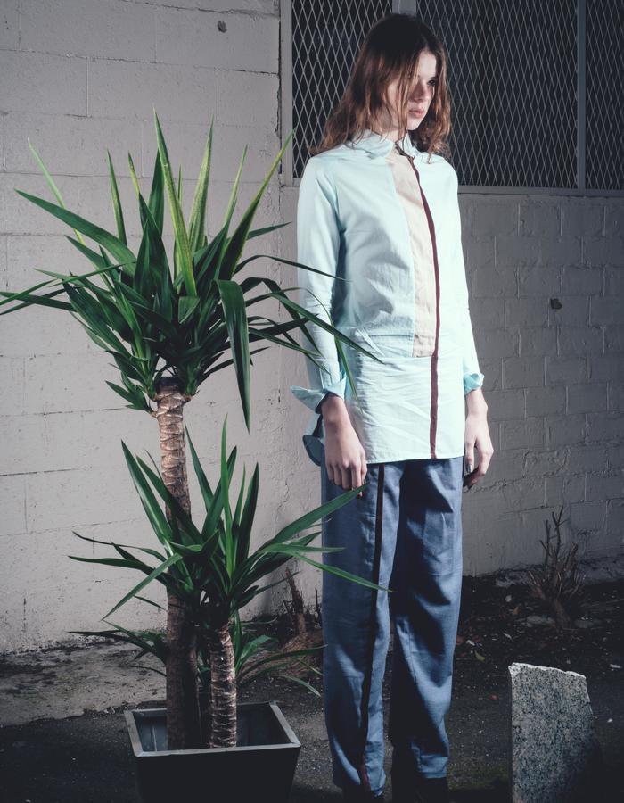 framed shirt - diamond pants
