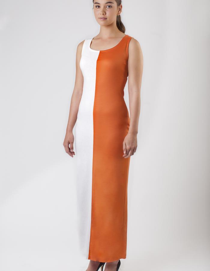WANDERLUST TWO-TONE MERINO DRESS