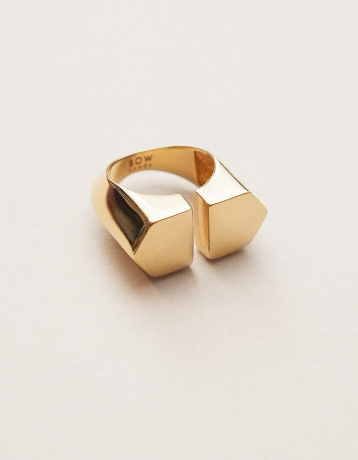 BOW LABEL - ORPHALISE RING - GOLD PLATED SILVER - 265 euro