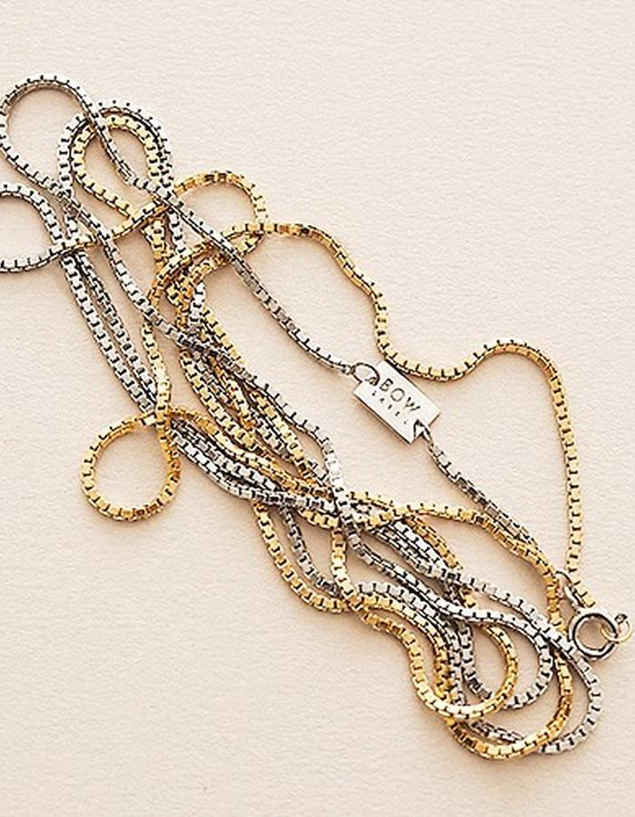 Bow-label-90´s_chain-half-24karat-gold-plated - 220 eur