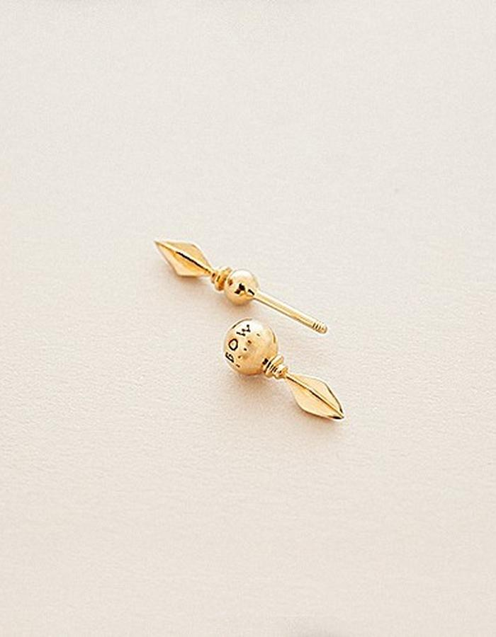 BOW LABEL - VANQUISH EARPIN - GOLD PLATED SILVER -140 euro