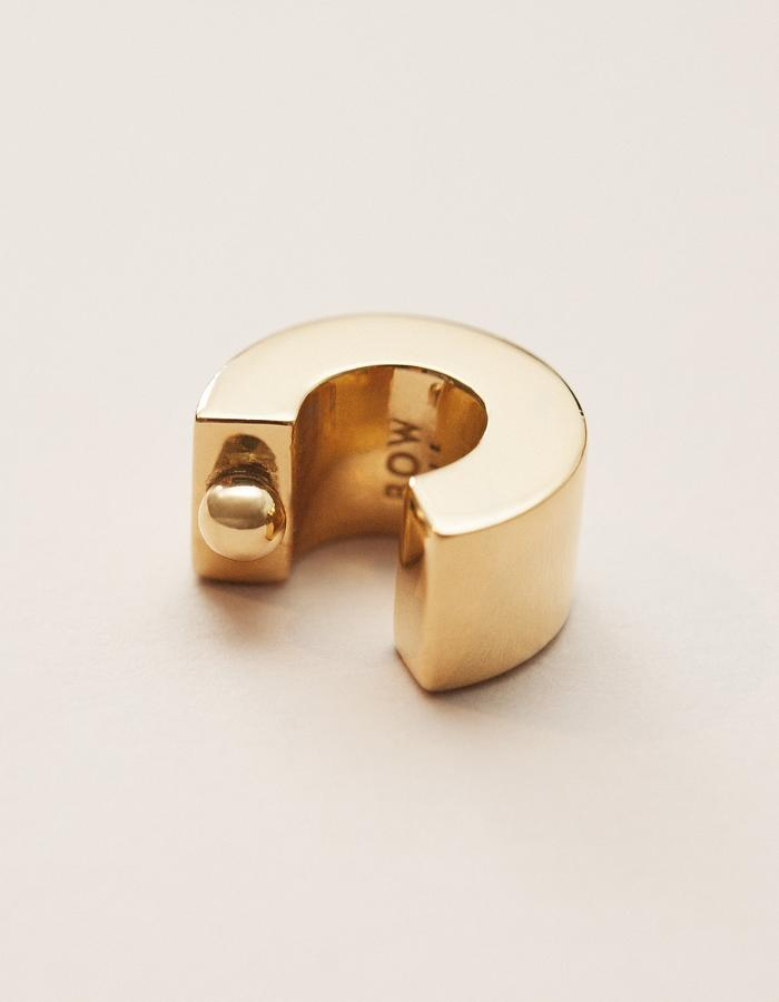 BOW LABEL - ALMITRA EARCUFF - GOLD PLATED SILVER