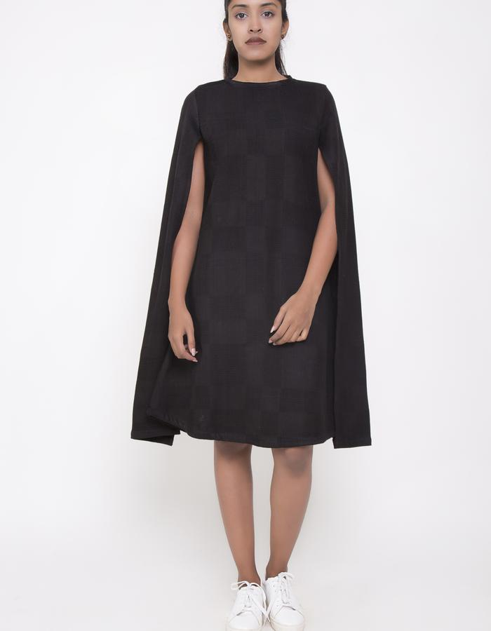 CAPE SLEEVE DRESS