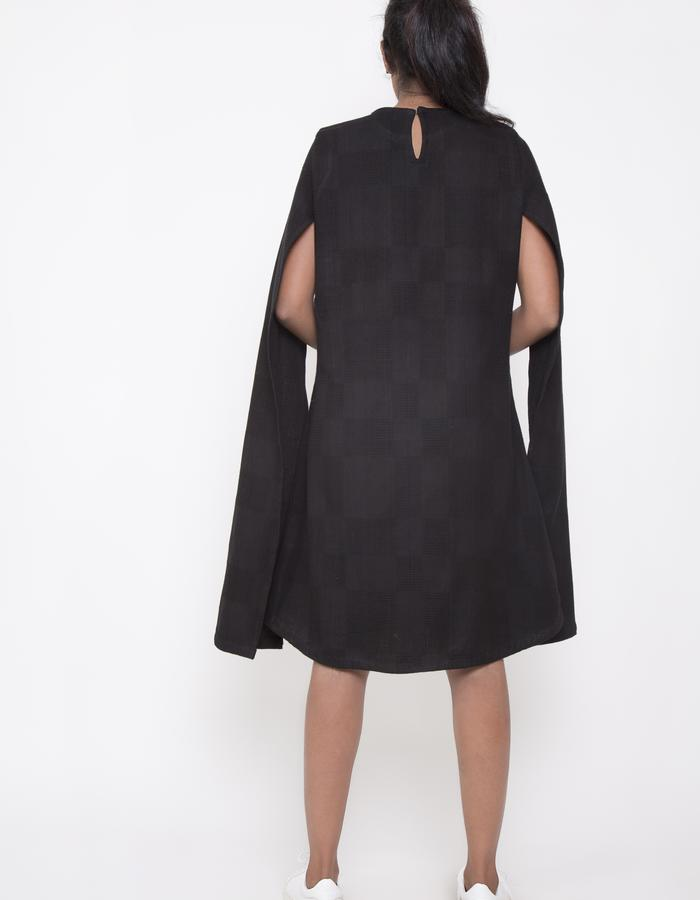 CAPE SLEEVE DRESS_BACK