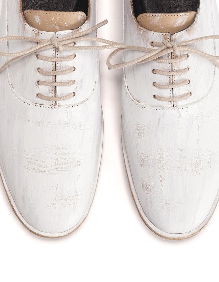 Man white shoes.