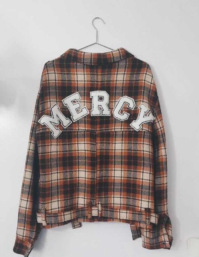 Mercy Plaid Crop Jscket