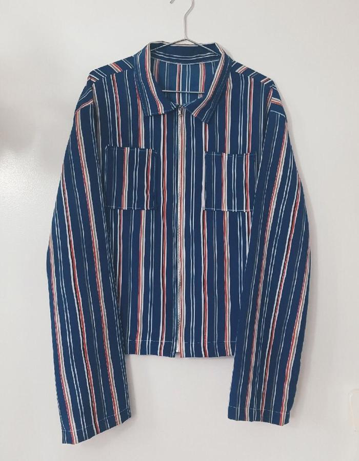 Mercy Vintage Stripe Crop Jacket