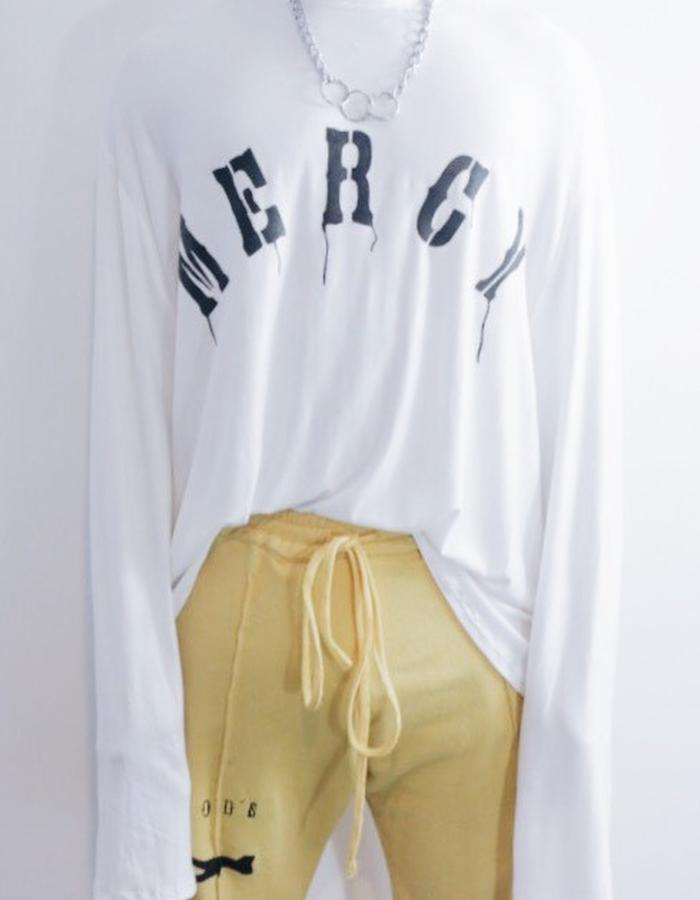Mercy 'Save my Soul' Long Sleeve Tee in White