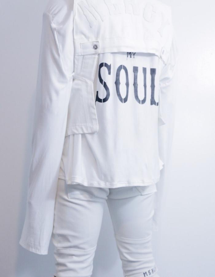 Save My Soul Tee x White Denim Holster Vest